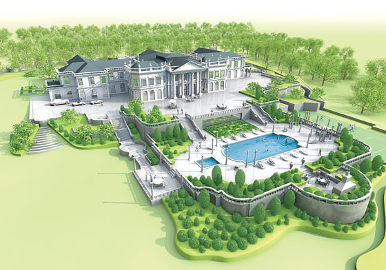 Russian millionaire valery kogan seeks mansion approval for Largest house plans in the world