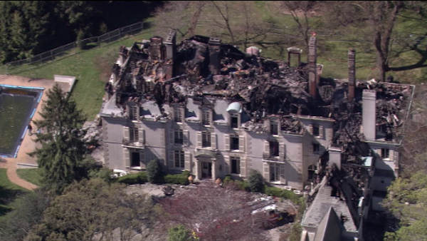 22,000 Square Foot Historic Pennsylvania Mega Mansion Burns Down
