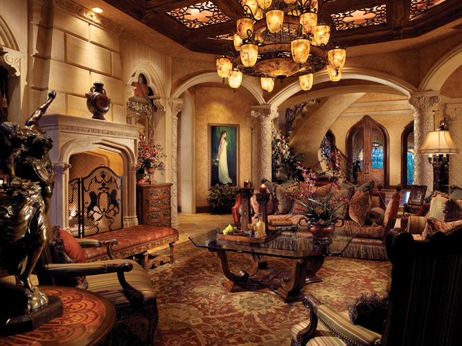 Old world tuscan interior design style - Opulent 33 000 Square Foot Oceanfront Mega Mansion In