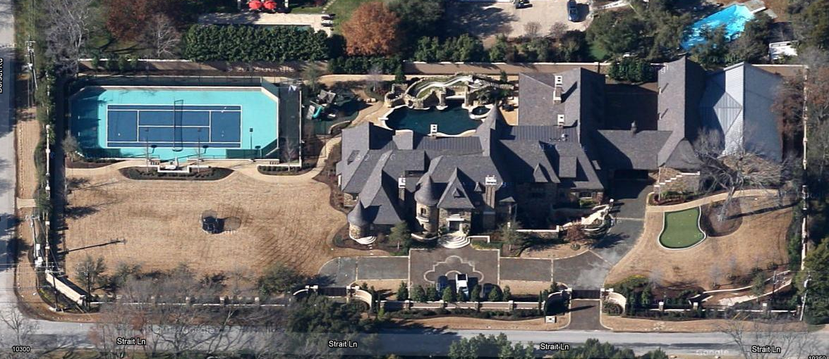 Updated Google Maps Aerial Pics Of Dallas Mega Mansions Homes Of - Google maps aerial