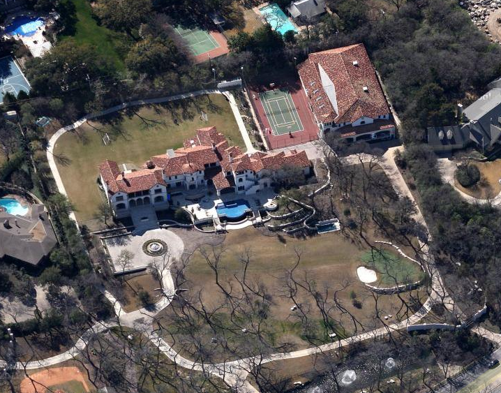 Thomas Dundons Newly Built Dallas Mega Estate on House Plans With Indoor Basketball Court