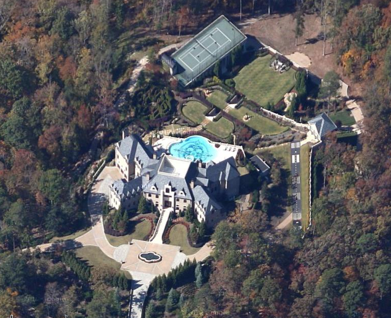 Tyler Perry S Atlanta Mega Estate Now Visible In Google Maps Homes