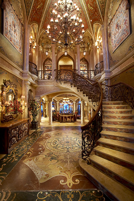 Luxury Mansion Foyer : Opulent square foot oceanfront mega mansion in