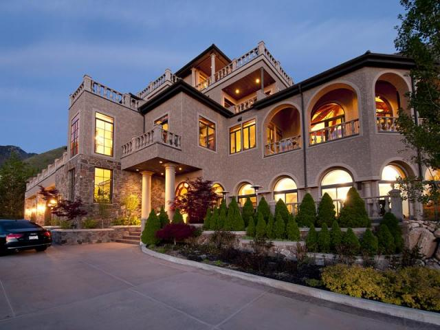 13 000 Square Foot Mountaintop Mansion In Salt Lake City Ut Homes Of The Rich