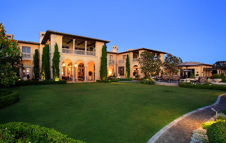 35 million 18 000 square foot mediterranean mansion in for Most expensive house in newport beach