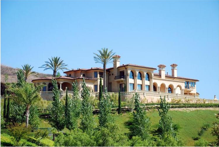 14 000 Square Foot Italian Inspired Hilltop Mansion In