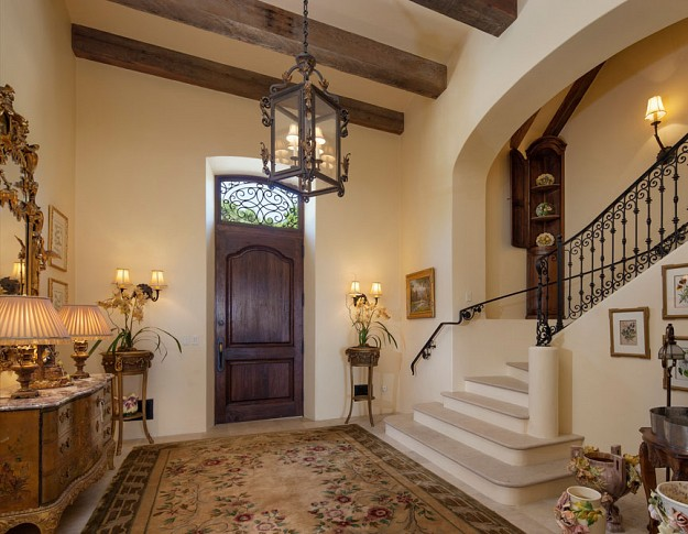 Old House Foyer : Million french provincial estate in montecito ca
