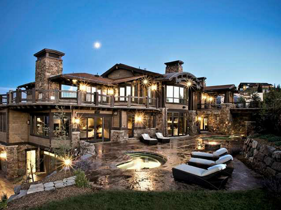 21 9 million contemporary mountaintop mansion in park for Best home designs utah