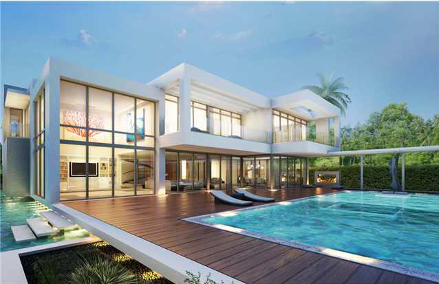 Proposed 32 Million Modern Mansion On Miami Beach S Star Island Homes Of The Rich