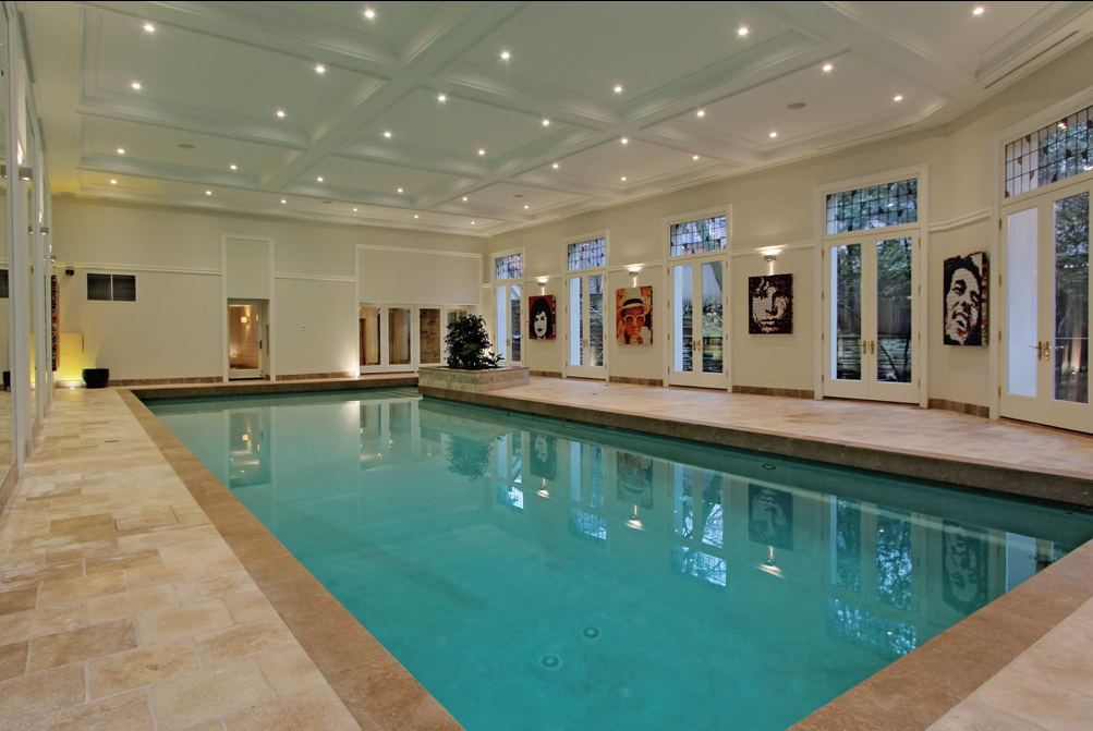 15 000 square foot stone mansion in toronto with indoor for Indoor pool