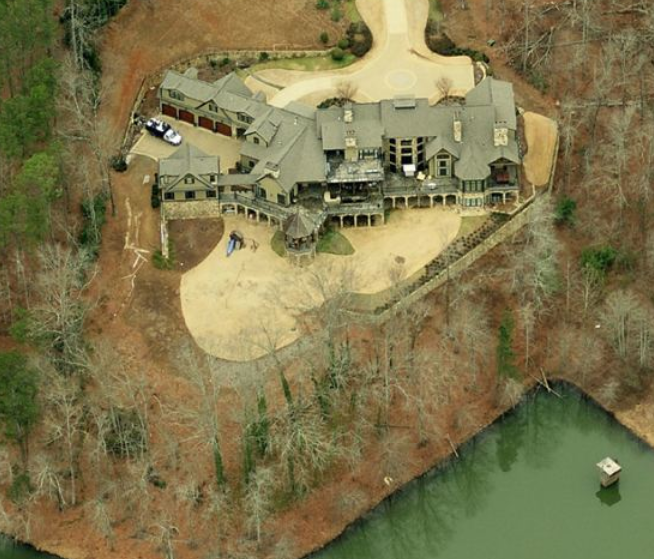 14,000 Square Foot Lakefront Mansion In Alpharetta, GA
