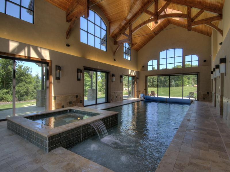 14 700 square foot utah mansion on 26 acres homes of the for Average square footage of a swimming pool