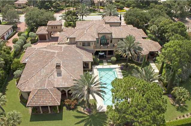 $7.8 Million Mediterranean Golf Club Mansion In Palm Beach Gardens, FL
