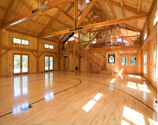 Indoor basketball court in house plans home design and style for Home plans with indoor sports court