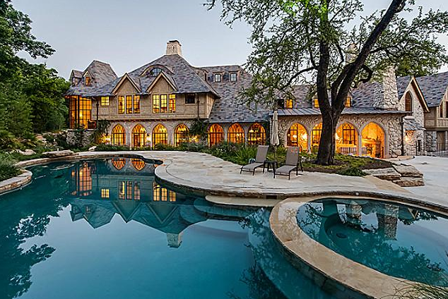 Stunning newly built 16 000 square foot english inspired for Mansions in dallas tx