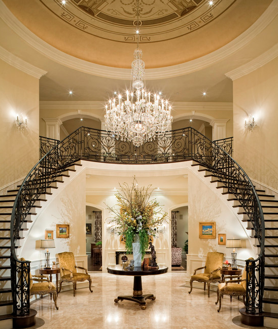 Foyer Grand Large : A look at some grand foyers from houzz homes of the rich