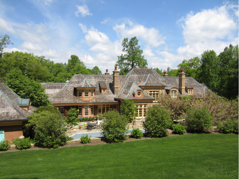 Elegant french country mansion in mendham nj homes of for French country style homes for sale