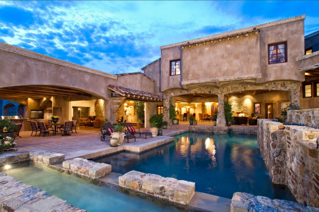 11,800 Square Foot Stone Mansion In Scottsdale, AZ