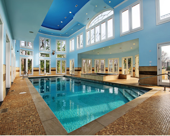 A Look At Some Indoor Swimming Pools From Homes Of The Rich