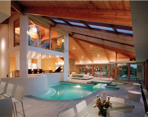 A Look At Some Indoor Swimming Pools From Houzz.com