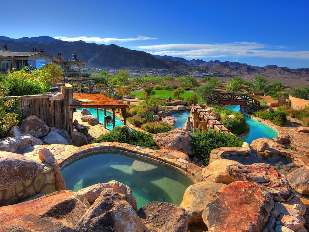 3 Million Foreclosure In Boulder City Nv With Its Very Own Lazy River on house floor plans with basketball court