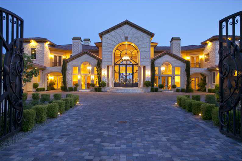 16 000 Square Foot Las Vegas Mansion Homes Of The Rich