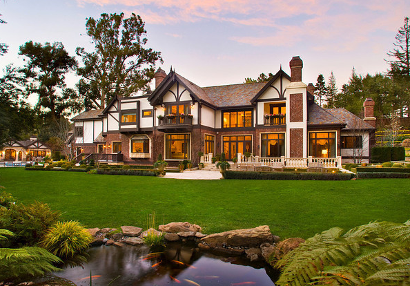 $17.8 Million Tudor Mansion In Atherton, CA