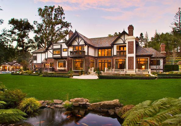 $17.8 Million Tudor Mansion In Atherton, CA