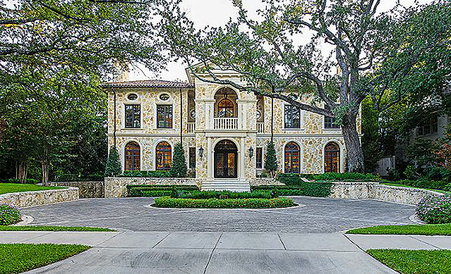 13 500 Square Foot Italian Inspired Stone Mansion In Dallas Tx Homes Of The Rich