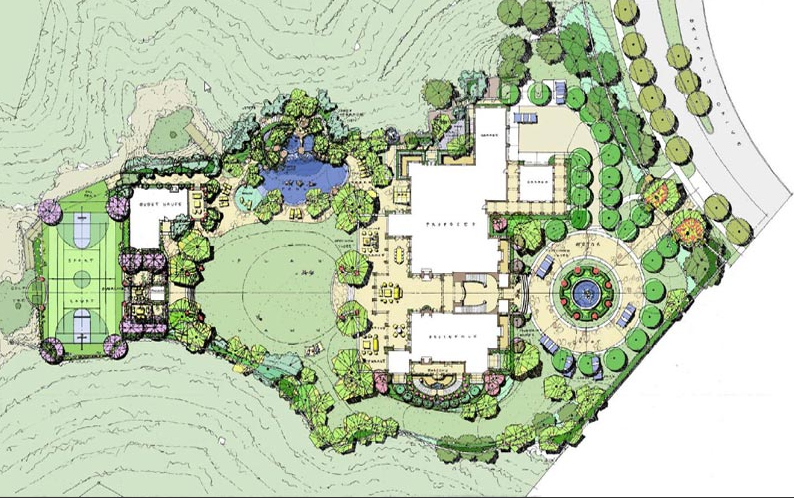Renderings of mark wahlberg s 34 000 square foot beverly park mega mansion homes of the rich House design sites