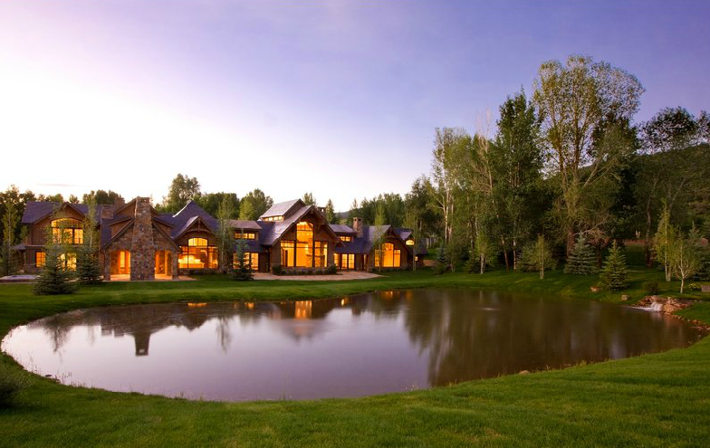 $18.75 Million Mountaintop Stone Mansion In Aspen, CO