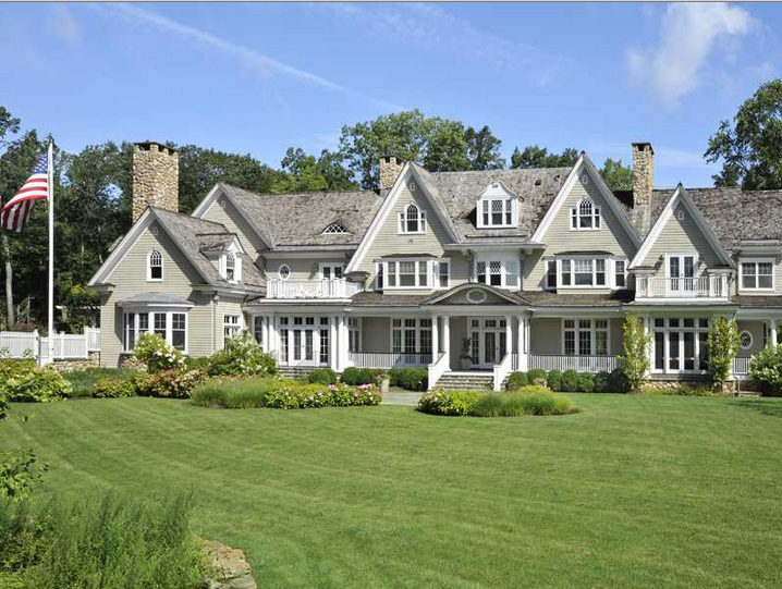 17 Million Colonial Mansion In Greenwich Ct Homes Of