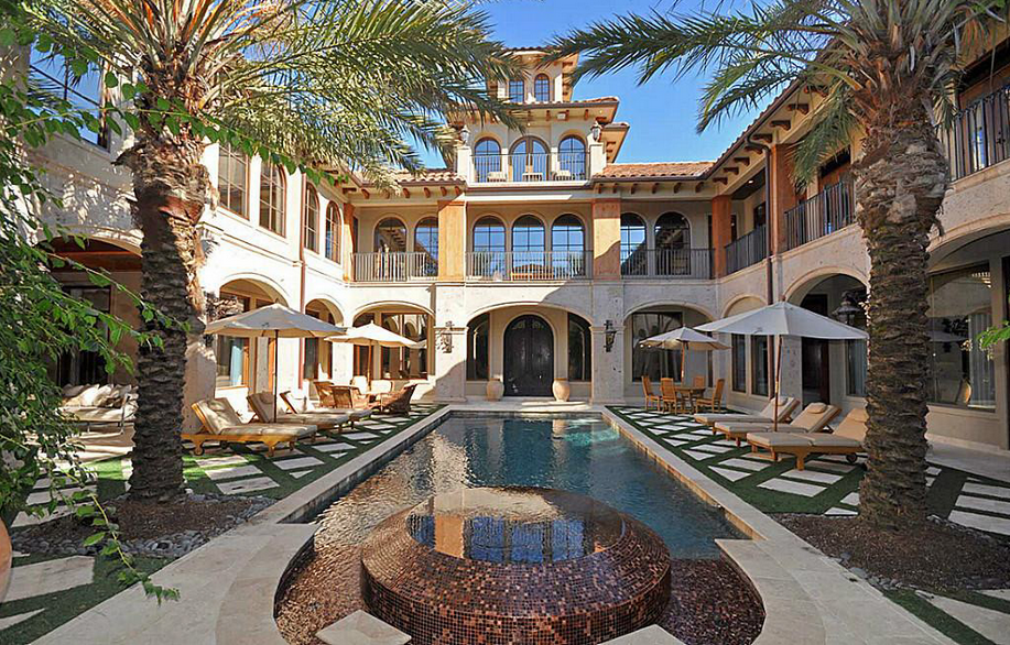 3 6 Million Mediterranean Mansion In Spring Tx With