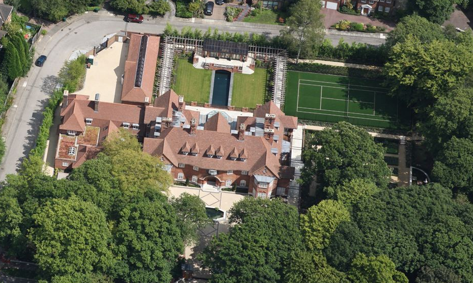 163 million london mega mansion now visible in bird s eye for New house hall