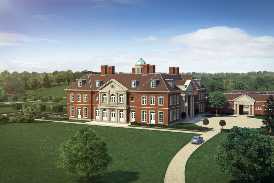 Artist's Impression Of A New Country Estate In England By