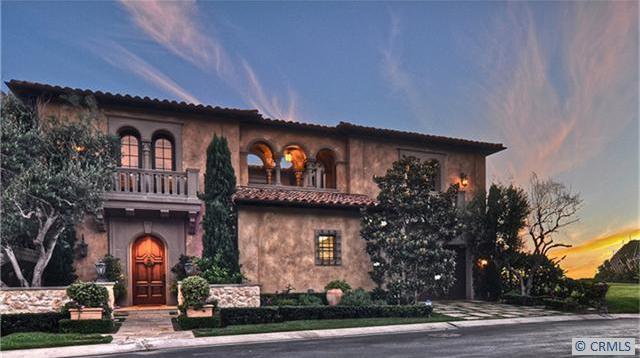 Bel Air Car >> $19 Million Tuscan Inspired Beachfront Mansion In Dana ...