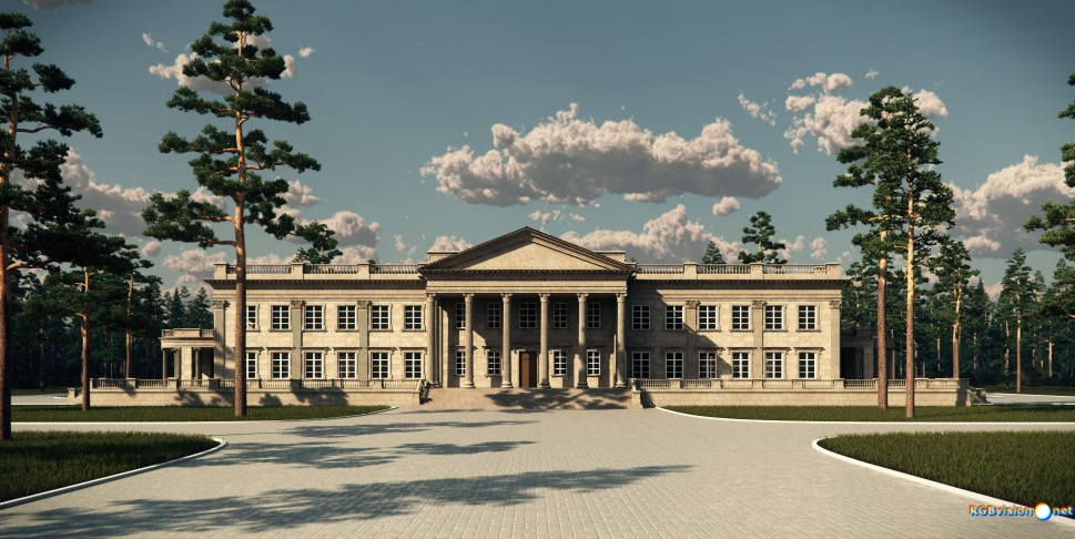 The Goldwood House A Proposed Grand Estate on Georgian Style Homes House Plans
