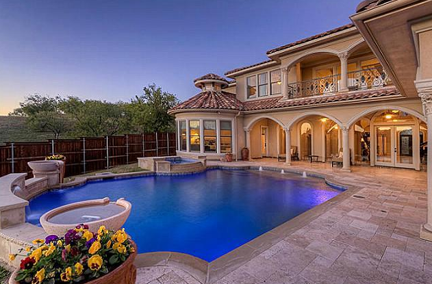 9000 Square Foot Mediterranean Mansion In Lewisville TX