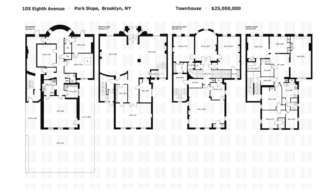 $25 Million Limestone Townhouse In Brooklyn, NY