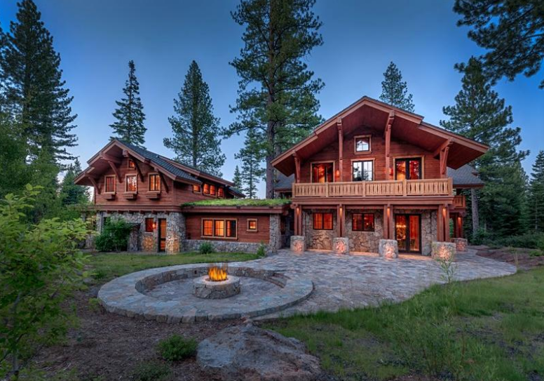 $9.25 Million Rustic Mountaintop Home In Truckee, CA