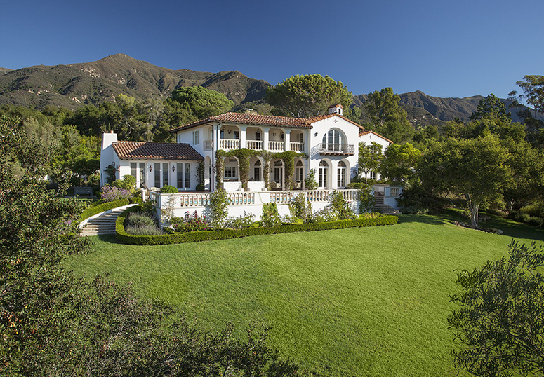 $9.65 Million Gated Mediterranean Home In Montecito, CA