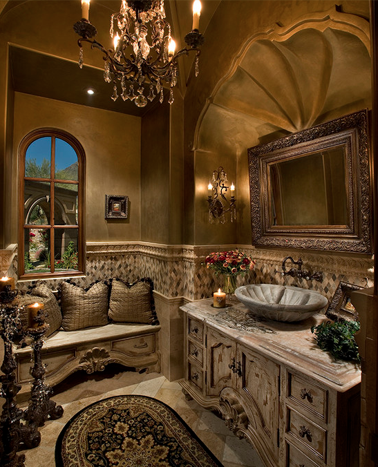 A Look At Some Luxurious Powder Rooms