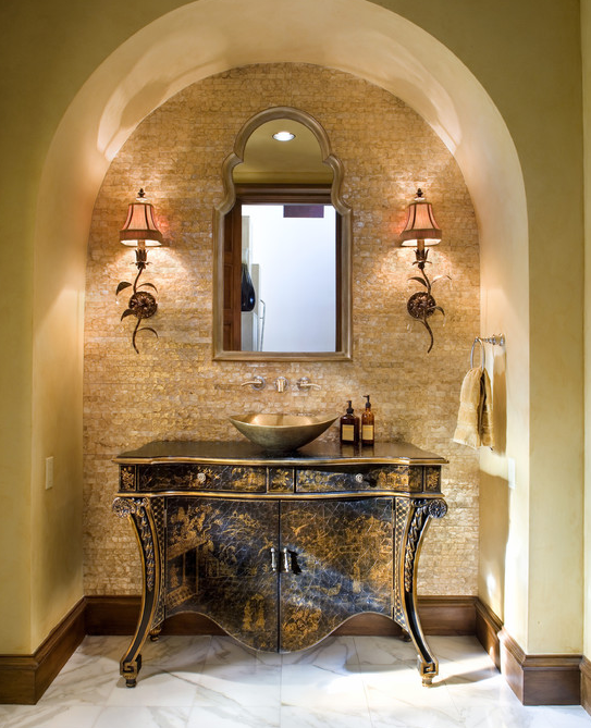 Mediterranean House Design Ideas 11 Most Charming Ones In: A Look At Some Luxurious Powder Rooms