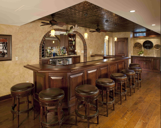 A look at some bars from homes of the rich - Unique home bar ...