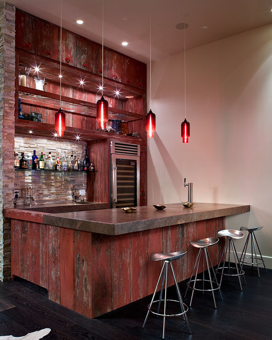 56 Best Images About House Movie Theatres Bowling Alleys: A Look At Some Bars From Houzz.com