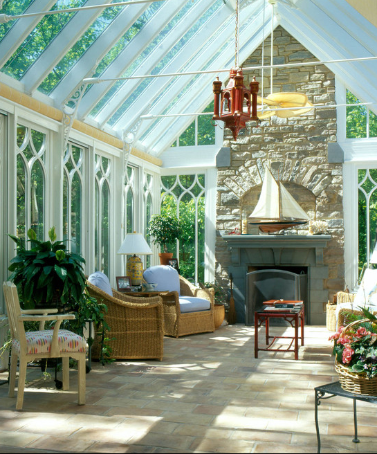 A look at some conservatories sunrooms from for Sunroom attached to house