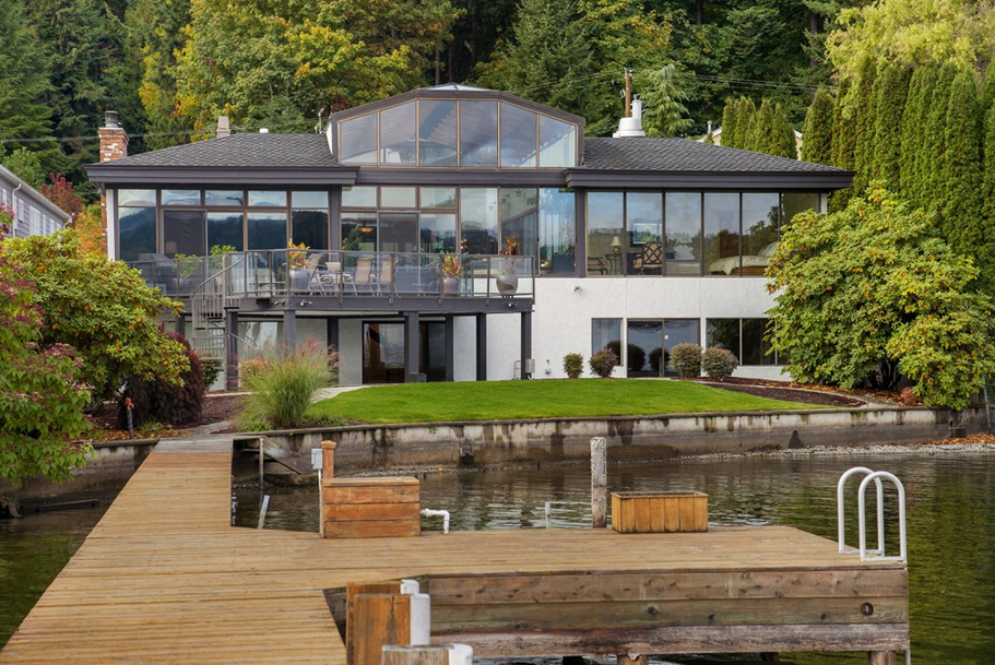 10,000 Square Foot Waterfront Home In Mercer Island, WA With Indoor Covered Pool Pavilion