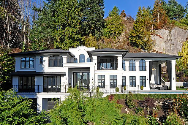 newly built contemporary mediterranean home in west vancouver