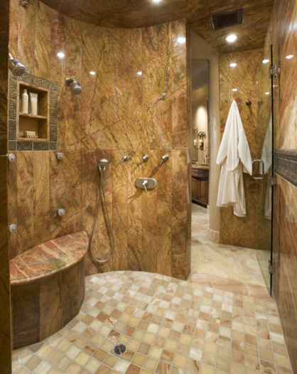 Here is a look at some amazing master bathroom showers from Houzz.com.  Showers are becoming more and more luxurious in million dollar homes and  most boast ...