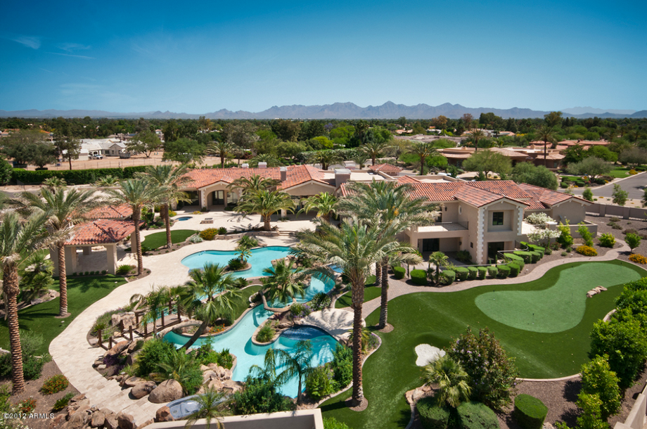 Million Paradise Valley Mansion Resort Style Backyard Homes The Rich